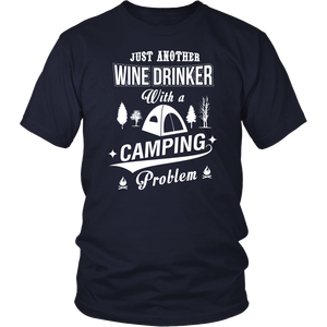 tShirts hoodie wine drinker with a camping problem hoodies sweatshirts Vnecks long sleeves CAMP1021