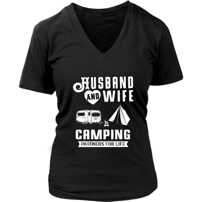 Tshirts Husband and wife Camping partners for life camp1063