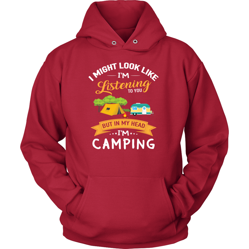 Tshirts in my head i'm camping hoodies love sweatshirts Vnecks long sleeves camp1079