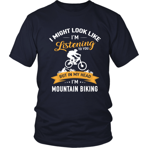 Tshirts in my head i'm mountain biking bike hoodies love sweatshirts Vnecks long sleeves mtb1003