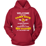 Tshirts welcome to our campsite camping hoodies sweatshirts Vnecks long sleeves CAMP1022