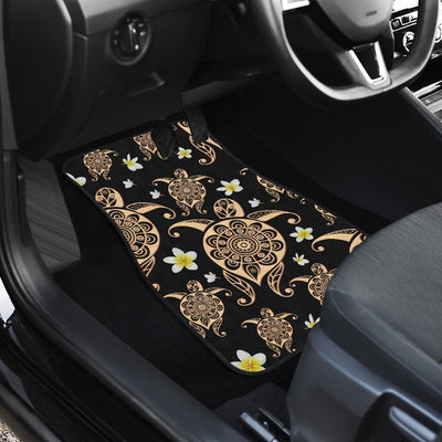 Honu Sea Turtle Plumeria Car Floor Mats