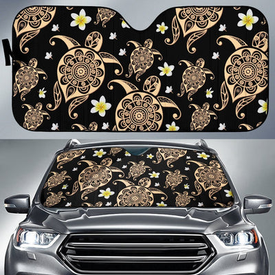 Turtle Polynesian Tribal Hawaiian Car Sun Shade-JorJune