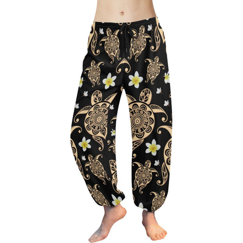 Turtle Polynesian Tribal Hawaiian Harem Pants