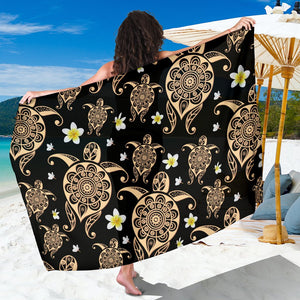 Turtle Polynesian Tribal Hawaiian Sarong Pareo Wrap