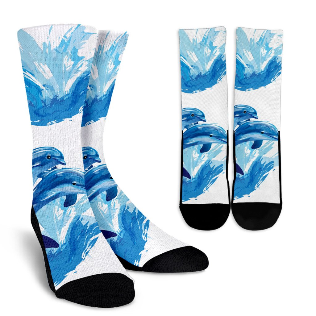 Two Dolphin Crew Socks