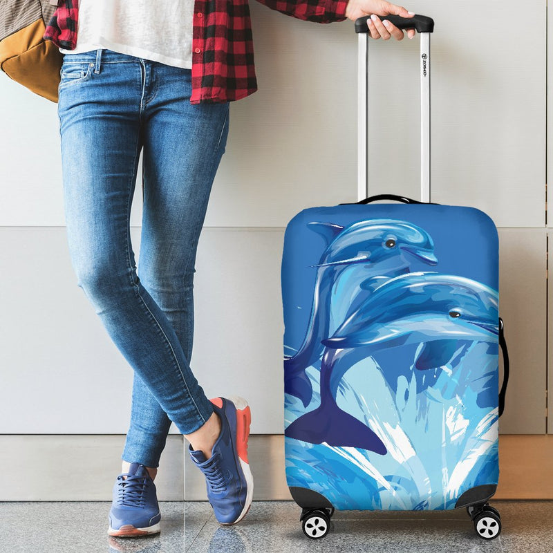 Two Dolphin Luggage Cover Protector