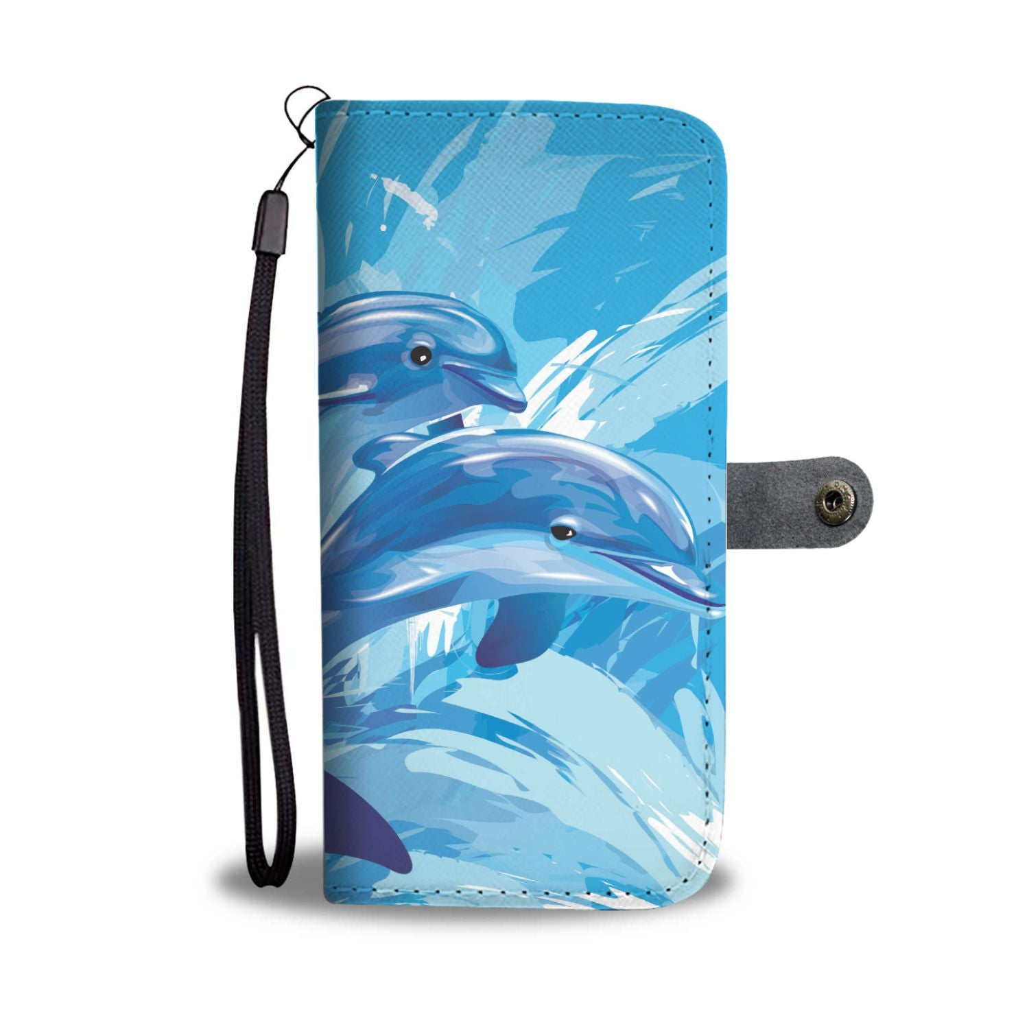 Two Dolphin Wallet Phone Case