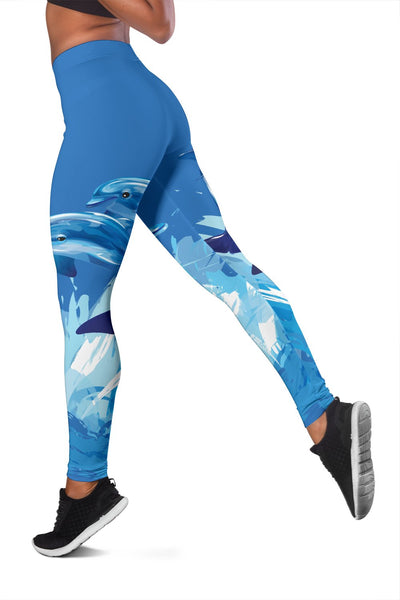 Two Dolphin Women Leggings