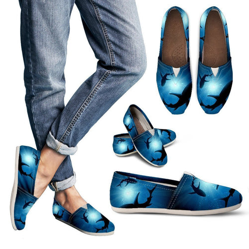 Underwater world Shark Women Casual Shoes-JorJune.com