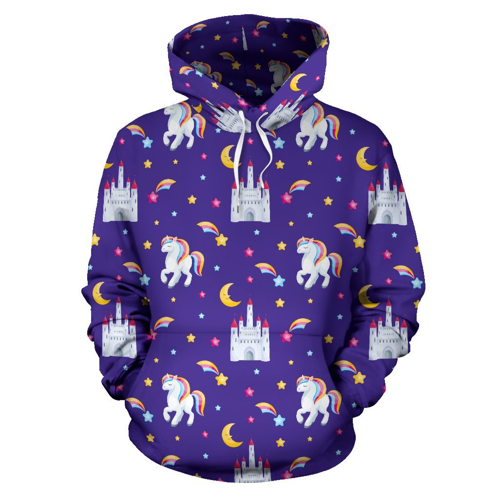 Unicorn Casttle All Over Print Hoodie