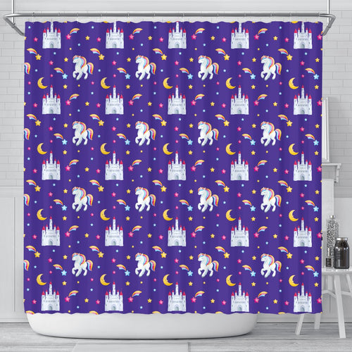 Unicorn Castle Shower Curtain