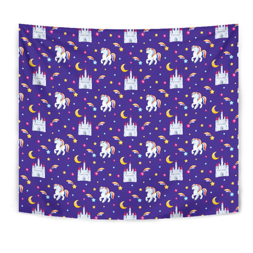 Unicorn Casttle Tapestry