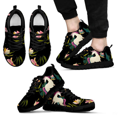 Unicorn in Floral Men Sneakers