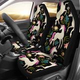 Unicorn in Floral Universal Fit Car Seat Covers