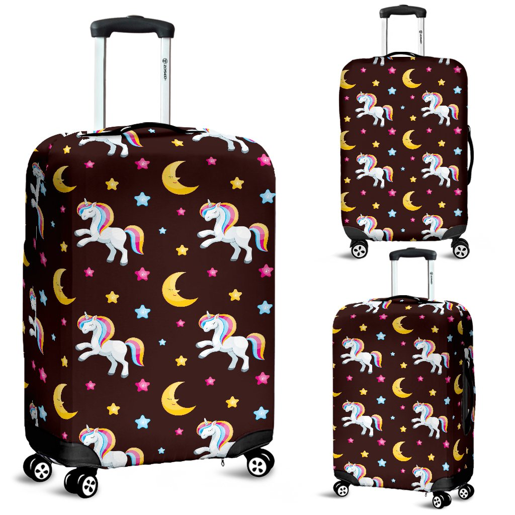 Unicorn Moon Star Luggage Cover Protector