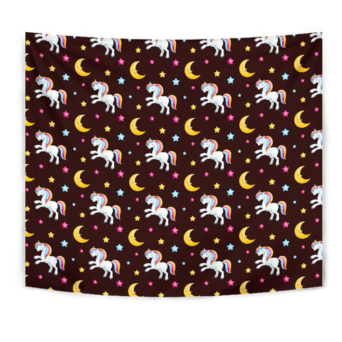 Unicorn Moon Star Tapestry
