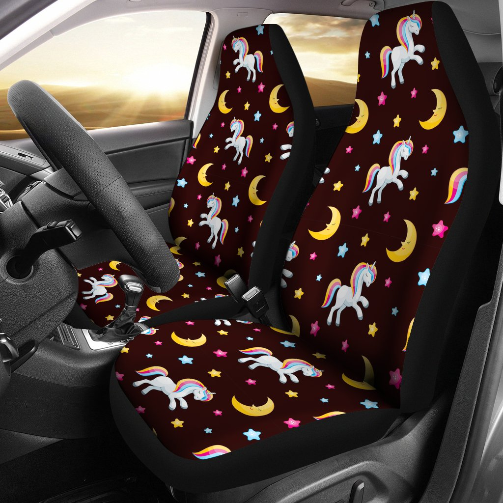 Unicorn Moon Star Universal Fit Car Seat Covers