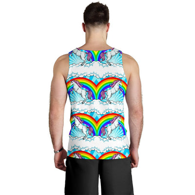 Unicorn Rainbow Men Tank Top