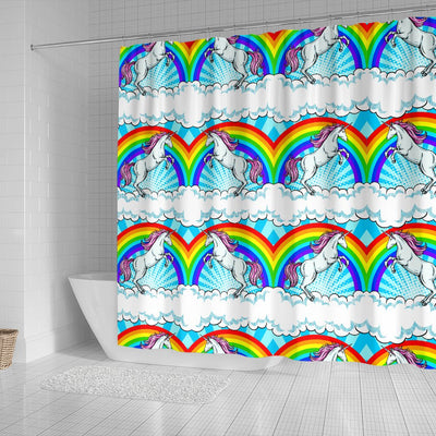 Unicorn Rainbow Shower Curtain