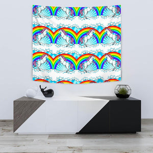 Unicorn Rainbow Tapestry