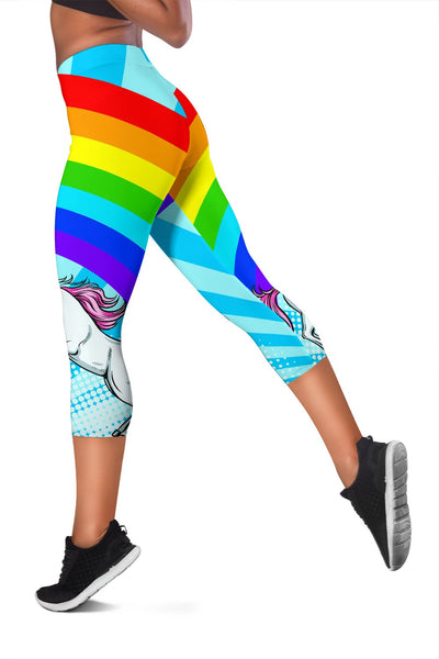 Unicorn Rainbow Women Capris