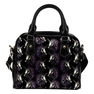 Unicorn Skull head Leather Shoulder Handbag