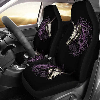 Unicorn Skull Head Universal Fit Car Seat Covers