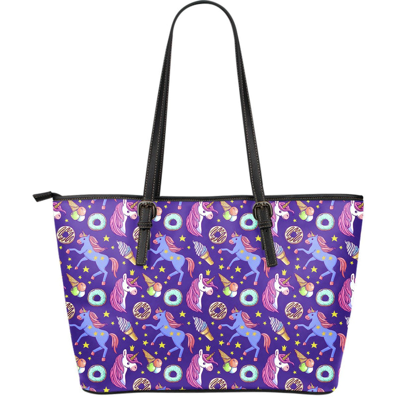 Unicorn Sweety Large Leather Tote Bag