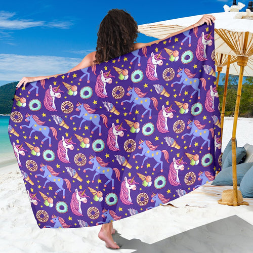 Unicorn Sweety Sarong Pareo Wrap