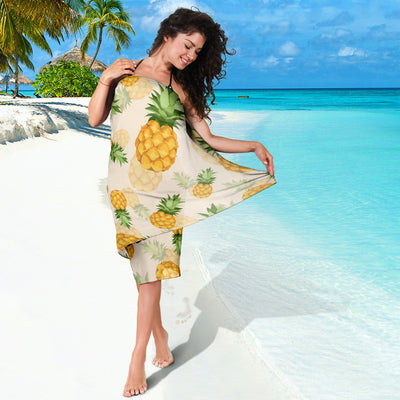 Vintage Pineapple Tropical Beach Sarong Pareo Wrap