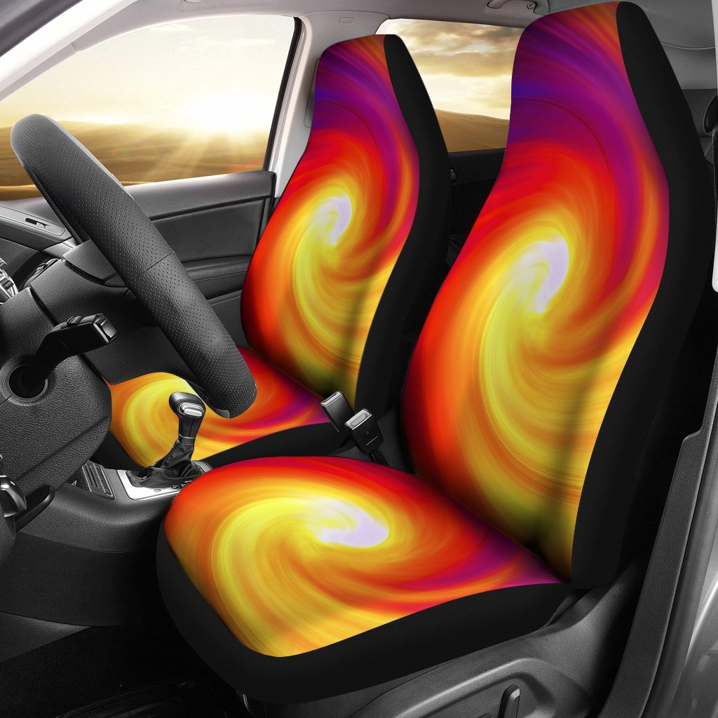 Vortex Twist Swirl Flame Themed Universal Fit Car Seat Covers