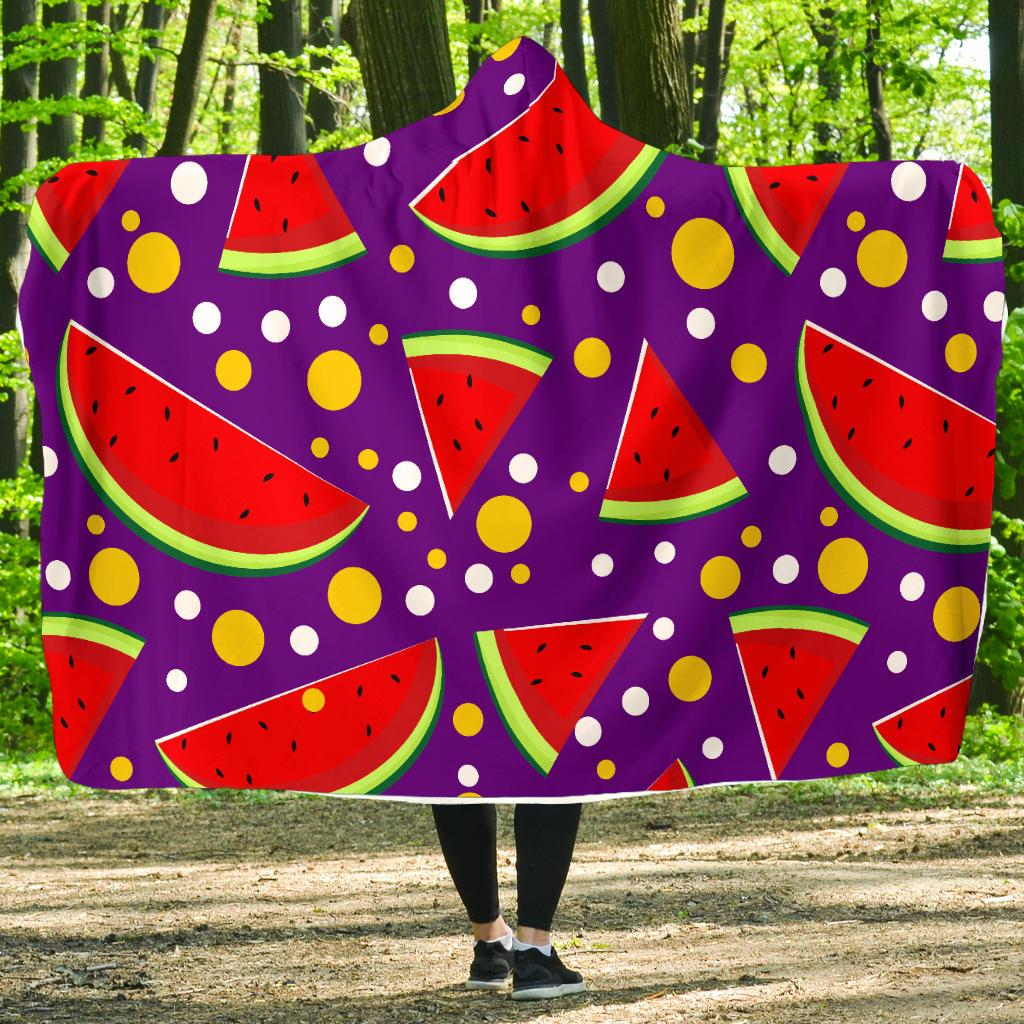 Watermelon Pattern Print Design WM010 Hooded Blanket-JORJUNE.COM
