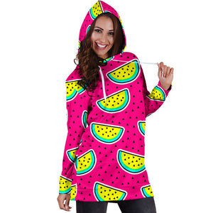 Watermelon Pattern Print Design WM04 Women Hoodie Dress