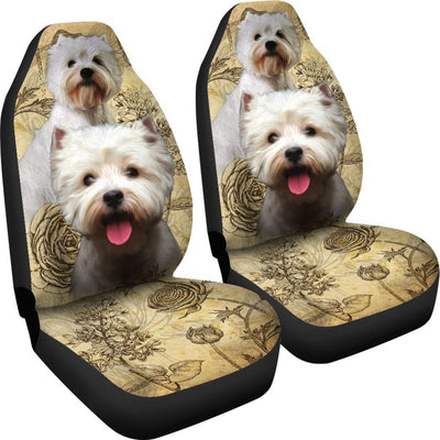 West Highland White Terrier Universal Fit Car Seat Covers