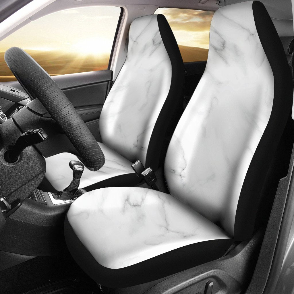 White Marble Universal Fit Car Seat Covers