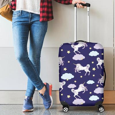 White Unicorn Star Luggage Cover Protector