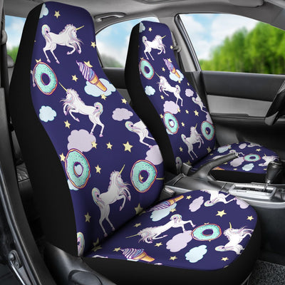 White Unicorn Star Universal Fit Car Seat Covers