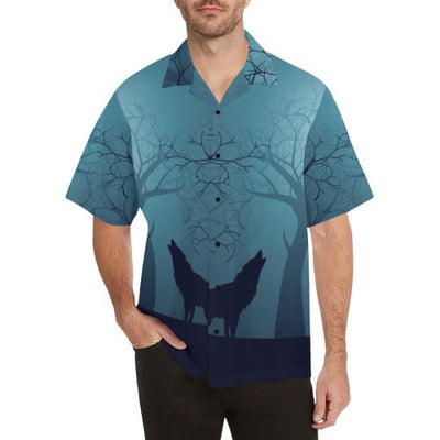 Wolf Night Men Hawaiian Shirt