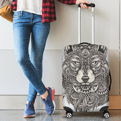 Wolf Tribal Luggage Cover Protector
