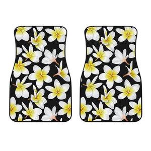 Plumeria Floral Hawaiian Flowers Hawaii Front Car Floor Mats
