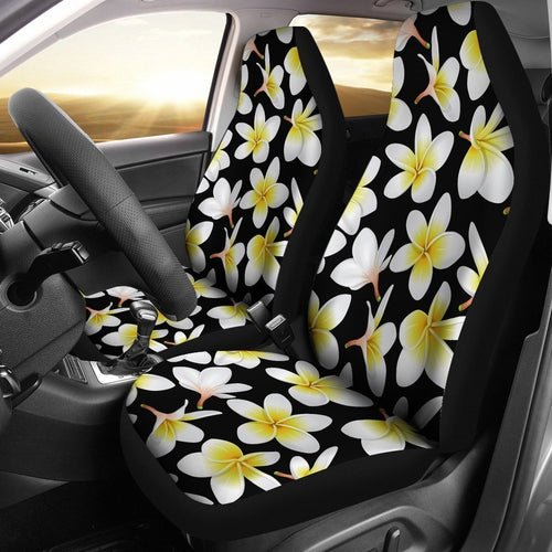 Plumeria Hawaiian tropical flower Universal Fit Car Seat Covers