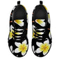 Yellow Plumeria Hawaiian Flower Women Sneakers