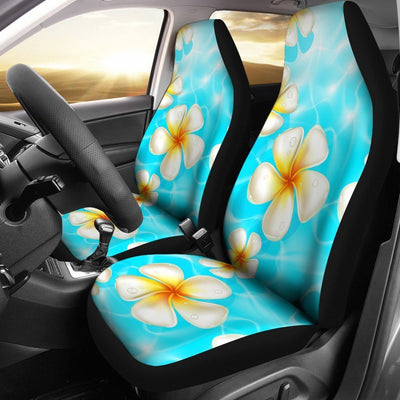 Floral Hawaiian tropical Plumeria Universal Fit Car Seat Covers