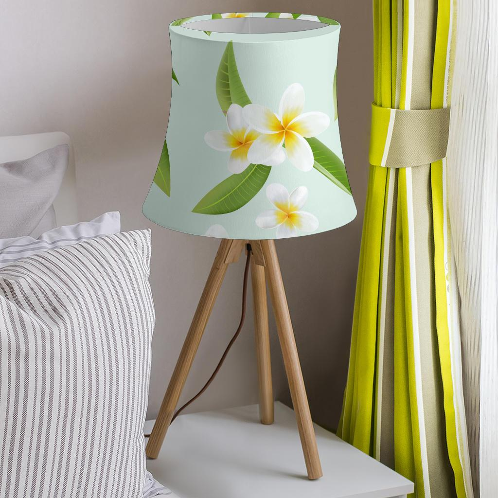 Yellow Plumeria Pattern Print Design PM024 Drum Lamp Shade-JORJUNE.COM