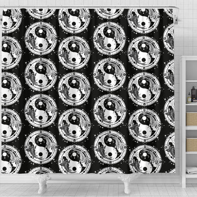 Yin Yang Koi Fish Shower Curtain