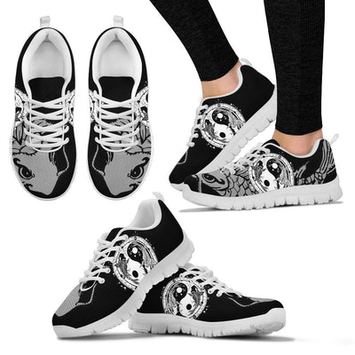 Yin Yang Koi Fish Women Sneakers