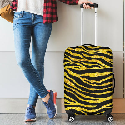 zebra Gold Luggage Cover Protector