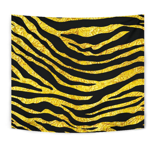 zebra Gold Tapestry