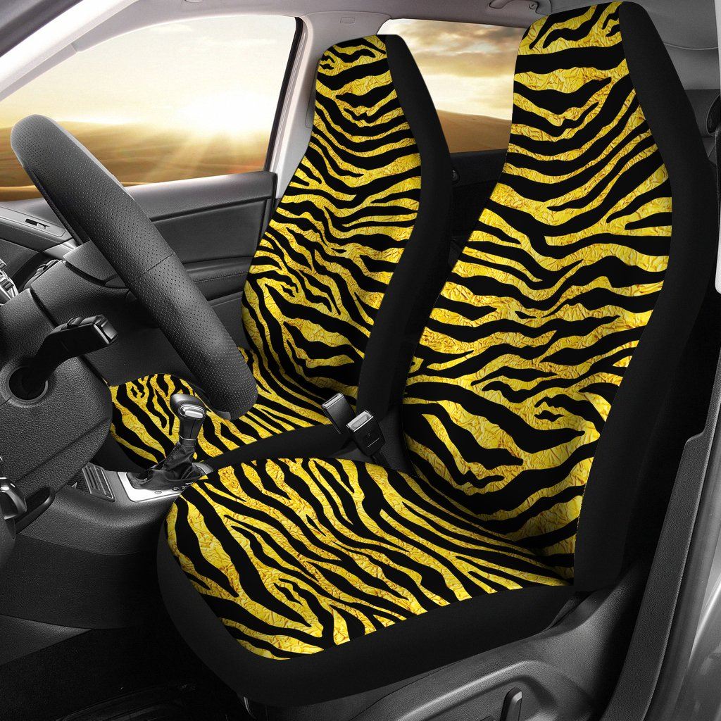 Zebra Gold Universal Fit Car Seat Covers